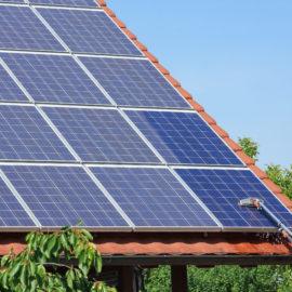 Reinigung einer Photovoltaikanlage